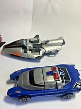 Two 1997 Bandai Power Rangers Blaster Police Car In Space Silver Galaxy Glider
