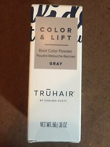 Truhair REGULAR Size Color & Lift Covers Roots, Gray, New Sealed 5g .18 OZ