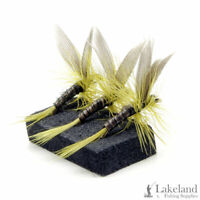 3, 6 or 12x Olive Quill Dry Trout Flies for Fly Fishing