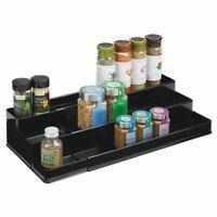mDesign Expandable Kitchen Cabinet, Pantry Organizer/Spice Rack