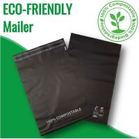 100 Biodegradable 245x340mm Poly Mailer Compostable Bag Satchels Mailing Packing