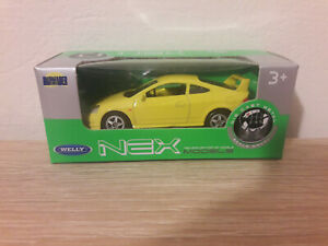 Welly NEX Honda Integra Type R, Yellow, No. 52255 - 1:64 1/64 1:60 1/60 diecast