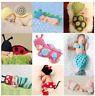 Newborn Baby Girls Boys Crochet Knit Hat Costume Photo Photography Props Outfits
