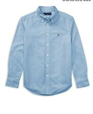 RALPH LAUREN CHILDRENSWEAR COTTON OXFORD SPORT SHIRT-BLUE-MEDIUM Kids.