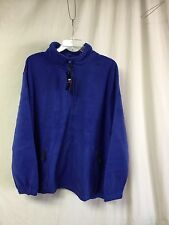 NWT Big Men's Large & In Charge Polar Fleece Zip Up Jacket Size 3XL Royal #142P