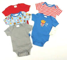 Baby Gear 5 Pack Infant Boys Bodysuit Set Grow With Me 2 Sizes 0-3M and 3-6M NWT
