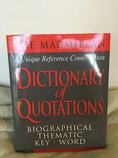 The MacMillan Dictionary of Quotations (2000) HCDJ