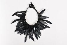 Giorgio Armani $4500 Black Stingray Pendant Necklace