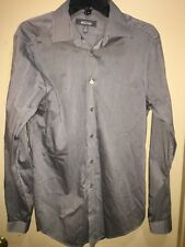 Kenneth Cole Reaction Dress Shirt Slim Fit Long Sleeves Cotton SZ M 15-15 1/2
