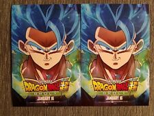 2x Postcard Mini Poster From DRAGON BALL SUPER BROLY Movie 2019 Gogeta Special