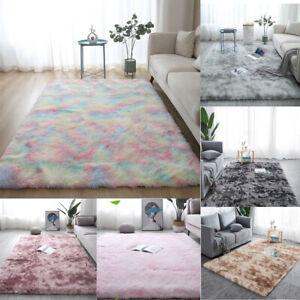 Shaggy Area Rugs Fluffy Tie-Dye Floor Soft Carpet Home Room Bedroom Large Rug US