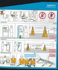 ICELANDAIR BOEING 757-200 SAFETY CARD TYPE TWO 8 EXITS 2018
