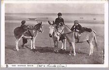 TUCK POSCARD FOUR FOOTED FRIENDS SERIES DONKEYS AND BOYS 1908 SEATON 1/6 IN SET