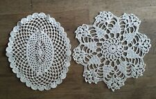 Lace Crochet Set Of 2 Table Cloth Cover Runner Scarf Topper Vintage Handwork
