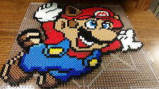 Super Mario Bros 3 Raccoon perler sprite large NES
