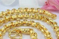 "SUPERB MEN'S CHAIN 26"" CLASSIC THAI BAHT NECKLACE 22K 24K Gold GP Jewelry GT32"
