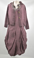 D'CELLI  LAGENLOOK  parachute dress & JACKET SIZE. M/L mulberry