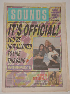 Sounds July 28th 1990 - Bananarama, Was Not Was, Fields Of The Nephilim, GWAR