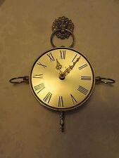 Elgin wall clock Mid Century Atomic steel & brass Original Germany Lion Hook