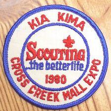 Vintage Boy Scout Patch Badge Kia Kima Cross Creek Mall Expo BSA 1980