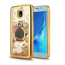 For Samsung Galaxy J3 Star/Achieve/Express Prime 3/2018 Liquid Glitter Ring Case