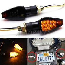 UNIVERSAL MOTORCYCLE 14 SMOKE LED TURN SIGNALS INDICATORS BLINKER LIGHT SPORTS