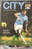 MANCHESTER CITY V SUNDERLAND FOOTBALL PROGRAMME 2013/14