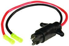 Sierra Boat Marine Male Trolling Motor Plug 12 Volt 2 Wires 10 Gauge Wire
