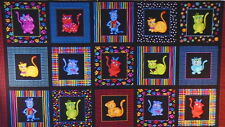COOL CATS 100% cotton panel by Loralie Designs (#92X)