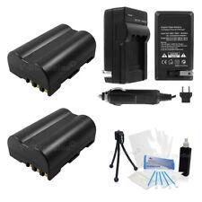 2x EN-EL3e ENEL3e Battery + Charger + Bonus for Nikon D50 D70 D70s D80 D90 D90s
