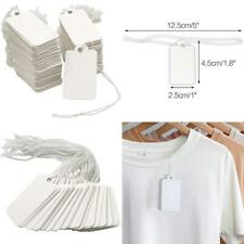"""500Pcs Small Price Tags With String,1.8"""" X 1"""" Clothes Size Tags Coupon Tags Maki"""
