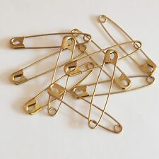"""Gold Safety Pins Size 5 ( 3"""" or 78mm )  Made in USA Pack / 50"""