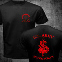 New US Army Special Force Sniper School Fort Benning Traning Camp T-shirt