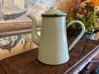 English Garden Green Enamelware Coffee Pot Graniteware