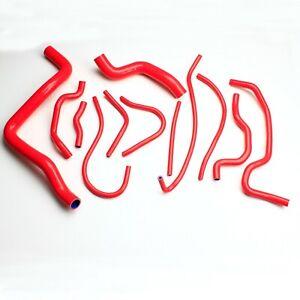 Silicone Radiator Hose Pipe For MITSUBISHI GALANTGRUNDER 2.4 4G69 04-2012 Red