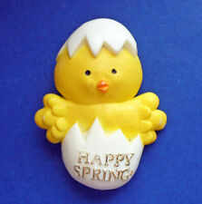 American Greetings Pin Easter Vintage Chick in Happy Spring Egg Holiday Brooch