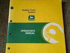John Deere Rubber Track System Operator's Manual - OMH168684 - OEM