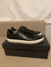 Banana Republic Nicklas Leather Sneakers Black Size 9.5 *PLEASE READ DESCRIPTION