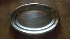 "4 OVAL SERVING PLATTER DISHES 16 "" x 10"" STAINLESS STEEL HEAVY DUTY CATERING"