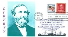 CRAWFORD W. LONG, MD. Ship named for Famous Surgeon Portrait First Day of Issue