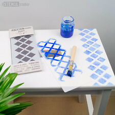 DIAMONDS Forever Stencil Minis-Furniture & Craft Stencil lo stencil Studio