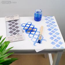 Diamonds forever stencil minis-meubles & craft pochoirs du pochoir studio