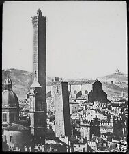 Glass Magic Lantern Slide BOLOGNA GENERAL VIEW C1890 PHOTO ITALY