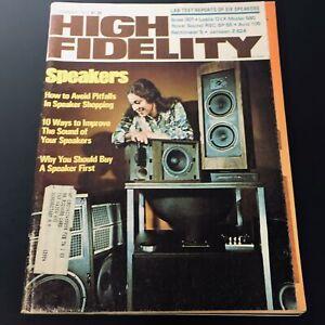 VTG High Fidelity Magazine November 1975 - Avoid Pitfalls In Speaker Shopping