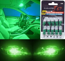 LED 5050 Light Green 194 Ten Bulbs Front Side Marker Parking Show Replacement