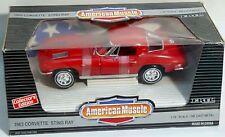 Ertl 1/18 1963 Corvette Sting Ray Split Window Red #7359 Sealed American Muscle