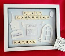 FIRST HOLY COMMUNION PERSONALISED FRAME GIFT PICTURE KEEPSAKE BOY GIRL RELIGIOUS