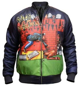 The Snoop Dogg Doggy Style Parachute Bomber Blue Jacket For Men - Dog Art Work