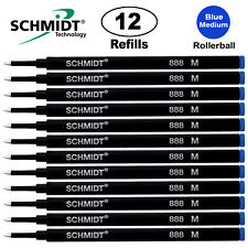 Schmidt  Medium Rollerball Pen Refill - 12 Pcs - Blue 888