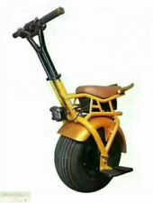 Electric Unicycle Scooter Gold One Big Wheel Fat Tire 1000W 7Ah Lithium Battery